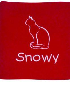 Personalised Red Cat Blanket