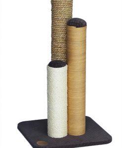 Abode Embossed Velvet Triple Texture Cat Scratcher Brown