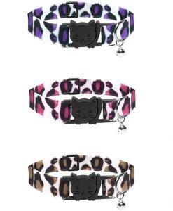 Cat Circus Leopard Print Safety Cat Collar