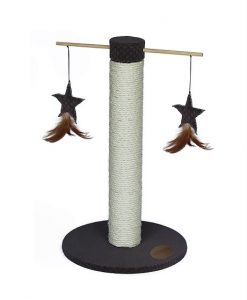 Abode Embossed Velvet Spinning Toy Cat Scratcher Brown