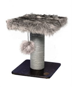 Abode Luxe Fur & Wood Scratching Post