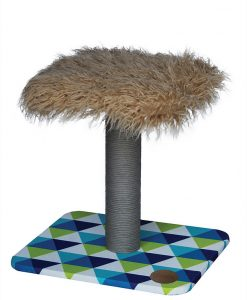 Abode Mid Century 2-Tier Sheepskin Geometric Cat Scratcher