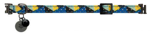 Sotnos Blue Geometric Cat Collar
