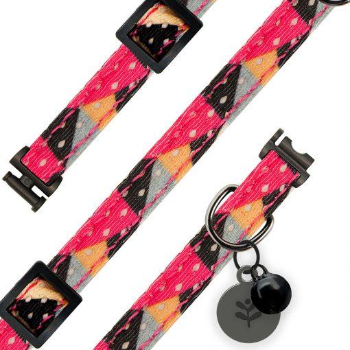 Sotnos Pink Geometric Cat Collar