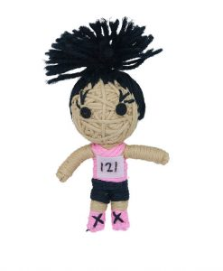 Kendra The Athlete Catnip String Doll Cat Toy