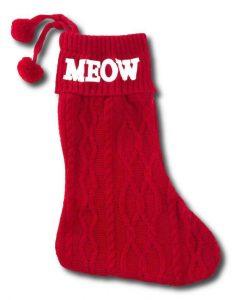 Meow Christmas Cat Stocking