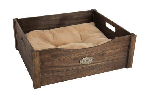 Rustic Wooden Cat Bed Antique