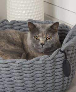 Haven Rope Basket Cat Bed Grey