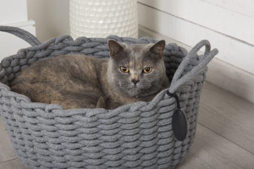 Haven Rope Basket Cat Bed Grey