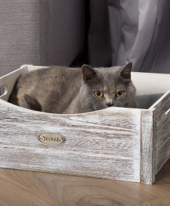 Rustic Wooden Cat Bed Driftwood