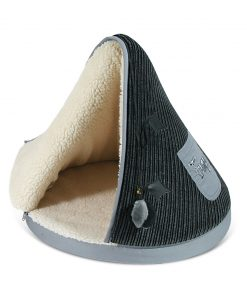 Black & Grey TeePee Cat Bed