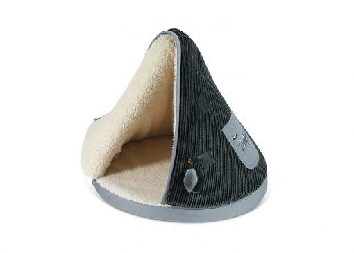 Black & Grey TeePee Cat Bed