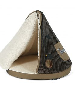 Chocolate & Tan TeePee Cat Bed