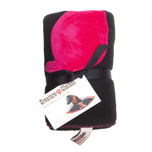 Fur Friend Fleecy Fish Cat Blanket Pink On Black