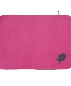Fur Friend Fleecy Fish Cat Blanket Grey on Pink