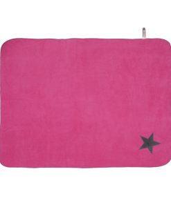 Fur Friend Fleecy Star Cat Blanket Grey On Pink