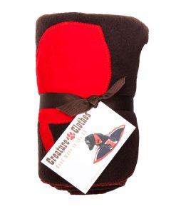 Fur Friend Fleecy Fish Cat Blanket Red On Choc