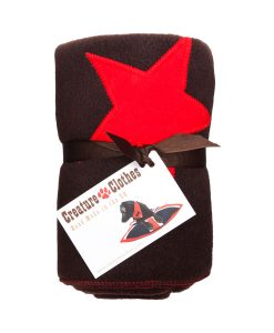 Fur Friend Fleecy Star Cat Blanket Red On Choc