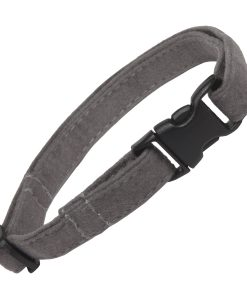 Grey Faux Suede Cat Collar