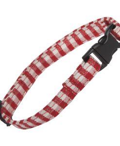 Red Gingham Cat Collar