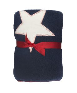 Fur Friend Fleecy Star Cat Blanket Cream On Navy