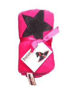 Fur Friend Fleecy Star Cat Blanket Grey On Pink