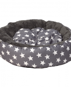 Grey Star Donut Cat Bed by House of Paws