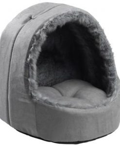 Hooded Silver Arctic Cat Bed by House of Paws