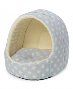 Hooded Blue Star Cat Bed by House of Paws