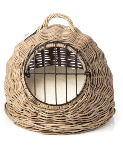 Rattan Cat Carry Basket by House of Paws