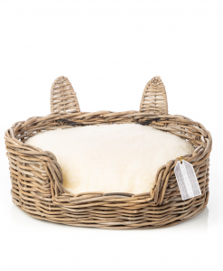 Rattan Cat Basket With Ears by House of Paws