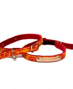 Orange Paisley Cat Collar