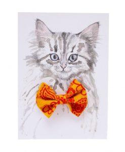 Paisley Cat Bow Tie