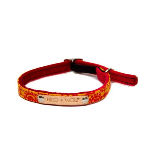 Orange Paisley Cat Collar