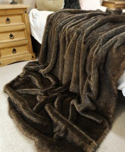 Luxury Brown Bear Faux Fur Cat Blanket