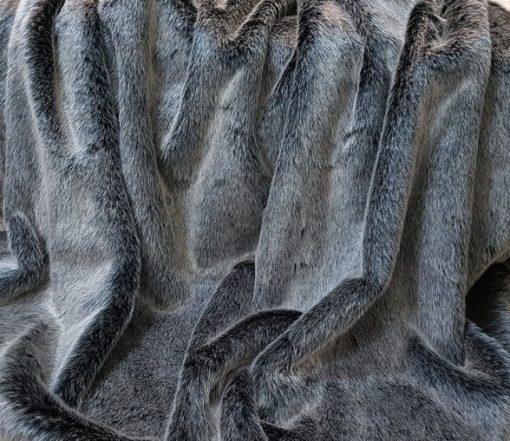 Luxury Arctic Wolf Faux Fur Cat Blanket