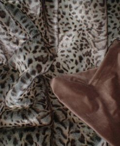 Luxury Ocelot Faux Fur Cat Blanket