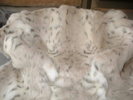Luxury Snow Lynx Faux Fur Cat Blanket