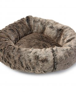 Faux Fur Cat Donut Bed by House of Paws