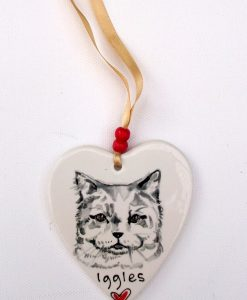 Personalised Hanging Pet Portrait Decoration