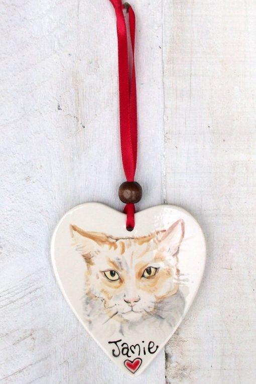 Personalised Hanging Pet Portrait Decoration