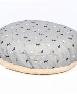 Luxury Donut Cat Cushion Bed in Cosmopolitan Cat