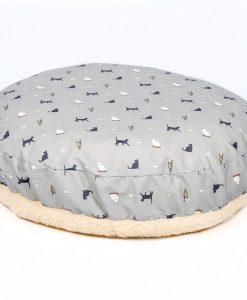 Luxury Donut Cat Cushion Bed in Cosmopolitan Cat