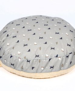 Luxury Snuggle Hooded Cat Cushion Bed in Cosmopolitan Cat