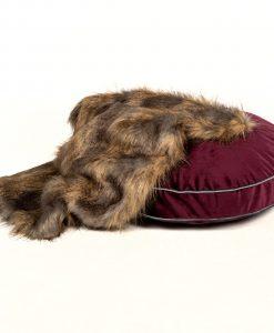 Luxury Grape Velvet Cat Cushion Bed