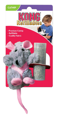 Kong Cat Refillable Catnip Rat