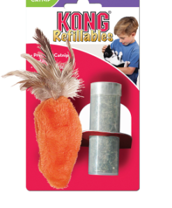 Kong Cat Refillable Catnip Feather Carrot Top