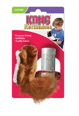 Kong Cat Refillable Catnip Squirrel
