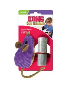 Kong Cat Refillable Catnip Corduroy Mouse