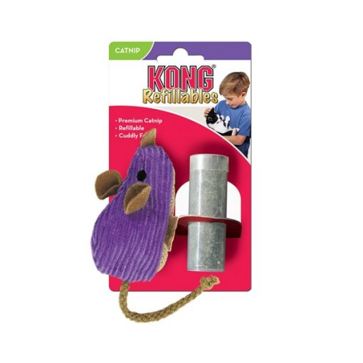 Kong Cat Refillable Catnip Corduroy Mouse